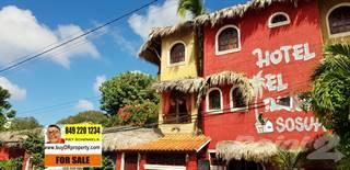 Commercial for sale in 21 ROOMS BEACH HOTEL PLUS RESTAURANT IN CENTER OF SOSUA, PLAYA ALICIA BEACH 1 MINUTE WALK, Sosua, Puerto Plata