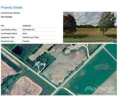 Residential Property for sale in PT LT 1, CON 17 AS IN MF62892 ; EAST GARAFRAXA, East Garafraxa, Ontario