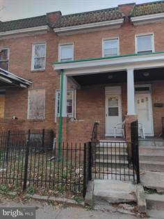 Residential Property for sale in 344 S BENTALOU ST, Baltimore City, MD, 21223