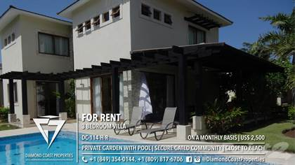 Residential Property for rent in 3 Bedroom villa | Private garden with pool | Secure Community | Close to beach, Sosua, Puerto Plata