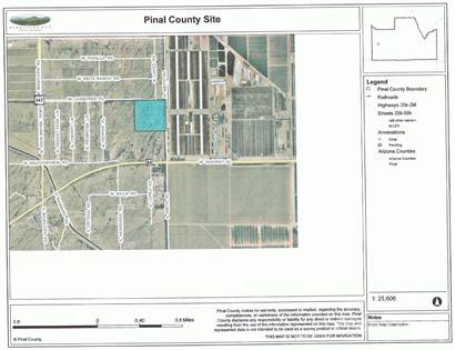 Commercial for sale in 40ac- Commercial Ag/Residential Zoning-Water, Pwr & Paved Rd Frontage, Maricopa, AZ, 85138