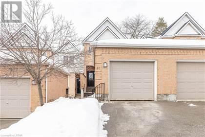 Single Family for sale in 1570 RICHMOND Street Unit 61, London, Ontario, N6G4W2