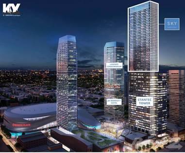 Condominium for sale in Sky Residences at Ice District, Edmonton, Alberta, T5J 0K4