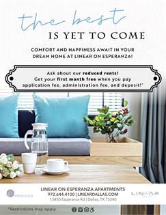 Apartment for rent in 13450 Esperanza Road, Dallas, TX, 75240