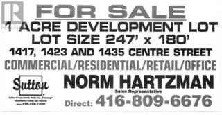 Land for sale in 1417 CENTRE ST, Vaughan, Ontario, L4J3M7