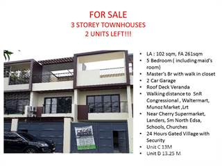 Townhouse for sale in Congressional Avenue, Proj 8, Quezon City, Quezon City, Metro Manila