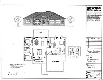 Residential Property for sale in Lot 10 Hinman Road, Pulaski, NY, 13142
