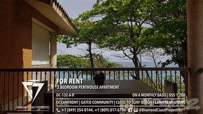 Residential Property for rent in 2 Bedroom Oceanfront Penthouse in a Gated Community, Cabarete, Puerto Plata
