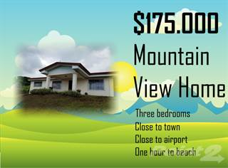 Residential Property for sale in Best value 3 bedroom, one floor nice garden and view home, Grecia, Alajuela