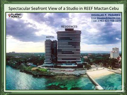 Condominium for sale in Spectacular Seafront View from Studio Unit of the REEF Mactan Cebu, Lapulapu City, Cebu