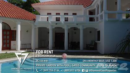 Residential Property for rent in 3 bedroom villa in a gated community close to the beach, Cabarete, Puerto Plata